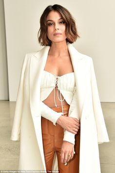 Dynasty star Nathalie Kelley claims prejudice in Australia : Prejudice: Dynasty star Nathalie Kelley has claimed that she found it difficult to find work in Australia due to the colour of her skin. Short Bob Hairstyles, Vintage Hairstyles, Pretty Hairstyles, Medium Hairstyles, Hair Inspo, Hair Inspiration, Short Hair Cuts, Short Hair Styles, Nathalie Kelley