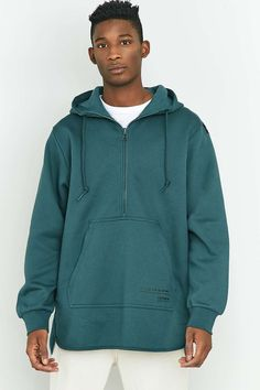 adidas EQT Mystery Green Scallop Pullover Hoodie - Urban Outfitters