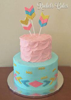 Aztec theme baby shower cake