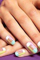 DIY This Pretty Pastel Plaid Mani   Teen Vogue