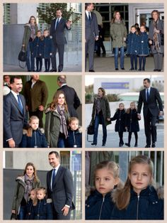 Princess Leonor and Princess Sofia of Spain visit King Juan Carlos in hospital 23 NOVEMBER 2013 Princess Leonor and Princess Sofia of Spain visited their grandfather King Juan Carlos in hospital on Friday evening.  The young princesses were seen sporting matching navy blue coats and they accompanied Princess Letizia and Prince Felipe to the hospital in Pozuelo de Alarcon, near Madrid.