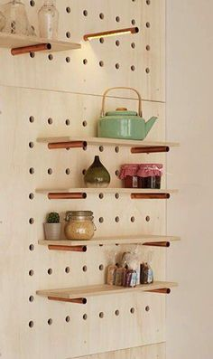 Modular furniture for practical layout! Modular furniture for practical layout! Modular shelves in kitchen decor This image has get 115 rep Modular Furniture, Diy Furniture, Furniture Layout, Furniture Buyers, Diy Kitchen, Kitchen Decor, Kitchen Pegboard, Ikea Pegboard, Painted Pegboard
