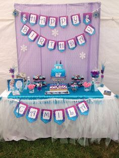 Dees candy buffet & brendas cake designs Frozen theme candy buffet