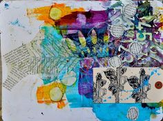 Dina Wakley - Intro to Art Journaling page