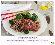 Waikato reared beef, locally grown broccoli and onions Teriyaki Beef, Soba Noodles, Beef Dishes, Onions, Broccoli, Steak, Meals, Dinner, Recipes