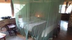 At night the mosquito nets are arranged over your bed ready for a good nights sleep. Game Reserve, Good Night Sleep, Beautiful Places, Stone, Bed, Rock, Rocks, Beds, Bedding