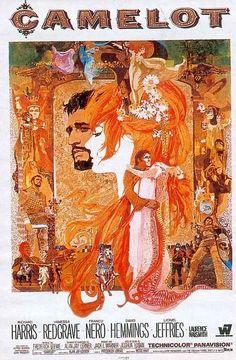 Bob Peak's lush poster for the 1967 film version of 'Camelot.' Strong echoes of Klimt and Jugendstil art