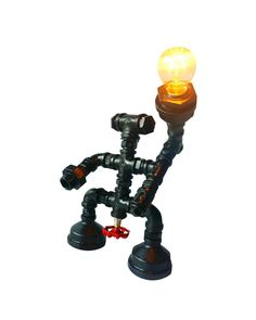 Vintage Industrial Robot Water Pipe Table Lamp  $145.95