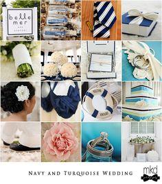 Navy and Turquoise wedding