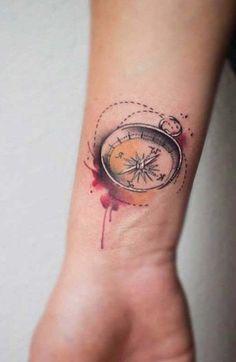 pusula erkek bilek dövmeleri compass wrist tattoos for men