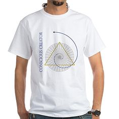 CafePress - Sacred Geometry Fibonacci - Unisex Crew Neck 100% Cotton T-Shirt, Comfortable and Soft Classic Tee with Unique Design