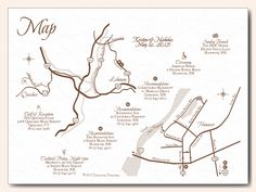A classy and sleek double map design for a wedding in Quechee, Vermont and Hanover, New Hampshire. This package 3 was designed as a single card rather than a 2 card or double sided map card. Featuring The Quechee Club, Murphy's On The Green, Hanover Inn Dartmouth, Residence Inn by Marriott Hanover/Lebanon, Courtyard by Marriott Lebanon/Hanover, Aquinas House and The DOC House at Dartmouth.