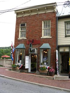 Ouaint shop in lower town, Harpers Ferry, WV. I used to live above it and it used to house my fathers Jewelry store.