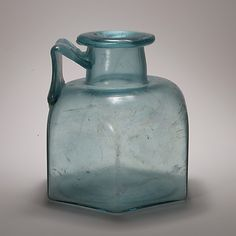 Hexagonal glass bottle