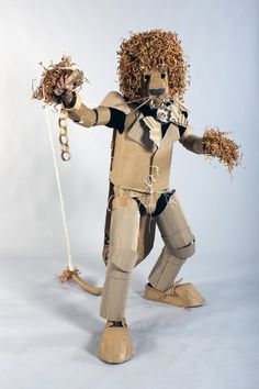 Strode College  -  Somerset UK Cardboard Catwalk 2014 Circus Lion