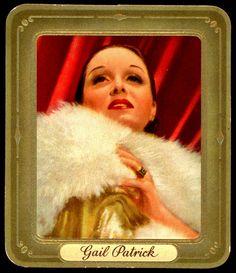 German Cigarette Card - Gail Patrick | Flickr - Photo Sharing!