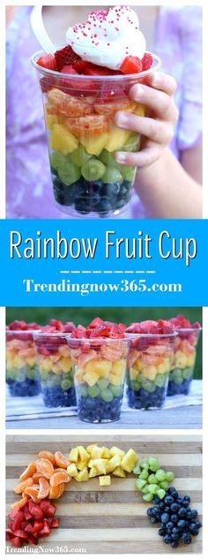 RAINBOW FRUIT CUPS {HEALTHY SNACK FOR CHILDREN}