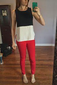 41Hawthorne Teresa Colorblocked Sleeveless Blouse
