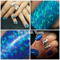 Gel, glitter & freehand nail art ♥