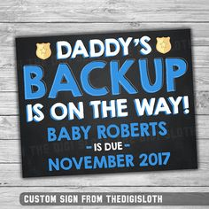 Pregnancy Announcement Sign - Funny Police Expecting Baby Sign Photo Prop