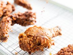 Extra-Crispy Fried Chicken With Caramelized Honey and Spice Recipe. A bit of prep work- but worth every minute! Crispy Fried Chicken, Fried Chicken Recipes, Spicy Recipes, Baked Chicken, Buttermilk Waffles, Honey Butter, Thing 1, Serious Eats, Waffle Recipes