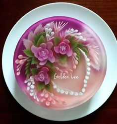 Jello Cake, Jello Desserts, 3d Jelly Cake, Jelly Flower, Colorful Desserts, Cake Gallery, Japanese Sweets, Cupcakes, Edible Art