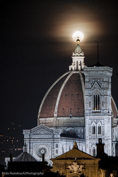 Duomo Moon, Florence, Italy