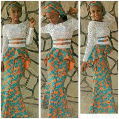 Lace with ankara