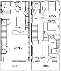 Town House Floor Plan, Cabin House Plans, Tiny House Plans, Duplex Floor Plans, Basement Floor Plans, Garage Plans, Shed Plans, Car Garage, 3 Bedroom Floor Plan