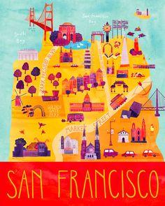 Marisa Sequin via http://creativeroots.org/2011/10/marisa-seguin-illustrated-maps/