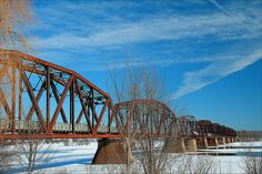 Train bridge in Fredericton,New Brunswick,Canada