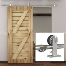 6.6 FT Stainless Steel Modern Interior Sliding Hardware Set Track Barn Wood Door