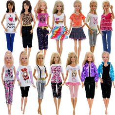 1set party doll clothes accessories doll top dress for boys girls best gift CA