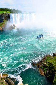 """Maid of the Mist"" ferry at Niagara Falls"