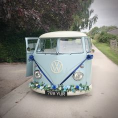 Something old, something new, something borrowed, something blue! Well, here's your something blue! Gorgeous powder blue wedding camper van available to hire in East Sussex, West Sussex, Surrey, Kent and Hampshire 💙 Something Borrowed, Something Old, Wedding Car Hire, Something Blue Wedding, East Sussex, Surrey, Camper Van, Bridal Shoes, Hampshire
