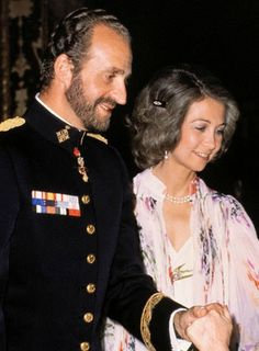 Beautiful Royal Couples: King Juan Carlos and Queen Sofia of Spain