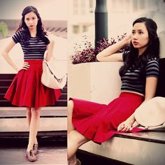Just a burgundy day (by Chi Doan) http://lookbook.nu/look/4338451-Just-a-burgundy-day