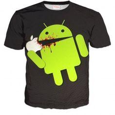ANDROID EATS APPLE Koszulka Tshirt Full Print