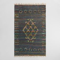 5'x8' Tribal Woven Jute Chindi Nitara Area Rug - v1