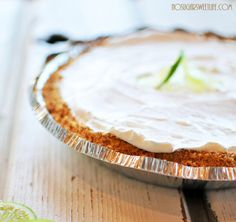 There's a reason key lime pie is so good: It's loaded with sugar. This version takes 70 percent of the sugar out of the equation and is still incredibly delicious.