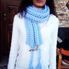 Crochet braided effect scarf