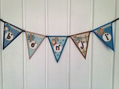 Name pennants for a boy by DT Linda S  http://blog.pysseldags.com/2013/04/vimpel-med-djur.html http://shop.pysseldags.se