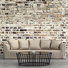 murando – Papier peint intissé 350x245 cm – Papier peint – Tableaux muraux déco XXL – Brique f-A-0411-a-d