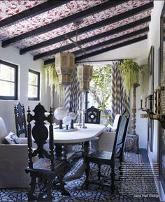 Morrocan Style Dining Room From Architectural Digest Spain