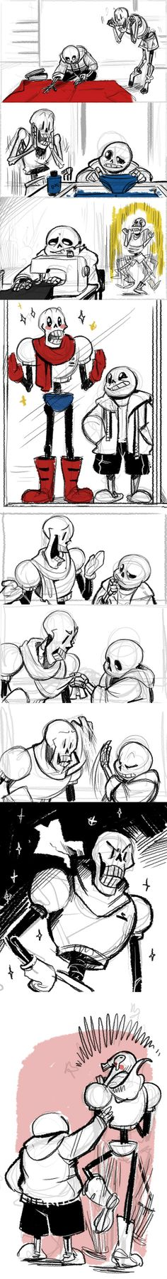 Sans and Papyrus - comic - http://crispy-ghee.tumblr.com/post/131768470466/sure-this-is-a-comic-not-just-a-sketch
