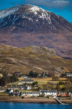 Sheildaig Village, Torridon, Scotland.