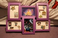 Hey, I found this really awesome Etsy listing at http://www.etsy.com/listing/153368373/multi-panel-picture-and-pin-disney-frame