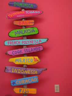 I like this idea for our tiki bar but with Cape Cod beach names!