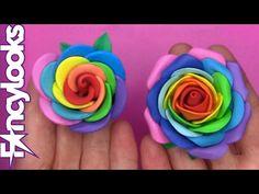 DIY Rosa arco iris: fácil o superfácil - YouTube