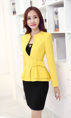 K5 Mais Suits For Women, Jackets For Women, Clothes For Women, Sexy Dresses, Fashion Dresses, Jackett, Business Attire, Look Chic, Office Outfits